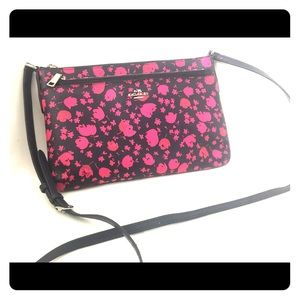 Rare Coach Floral Pink and Black Bag
